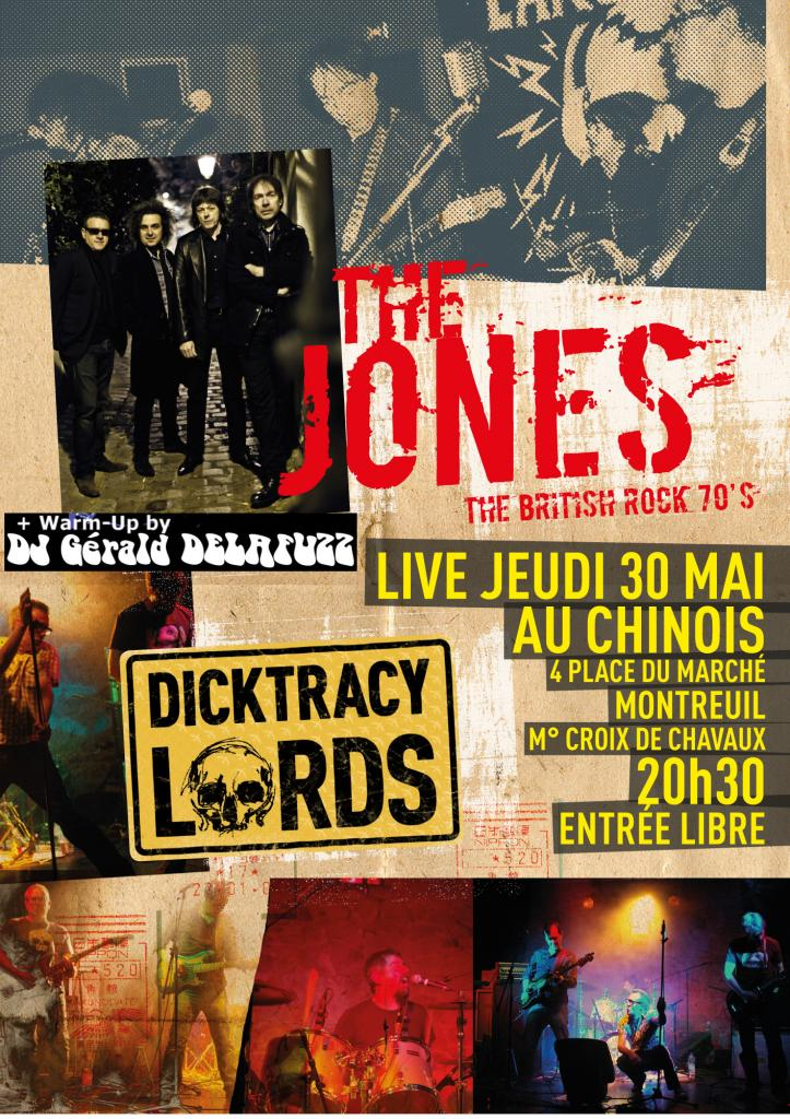 Affiche The JONES + DICKTRACY LORDS +GDFUZZ 30 MAI 2013